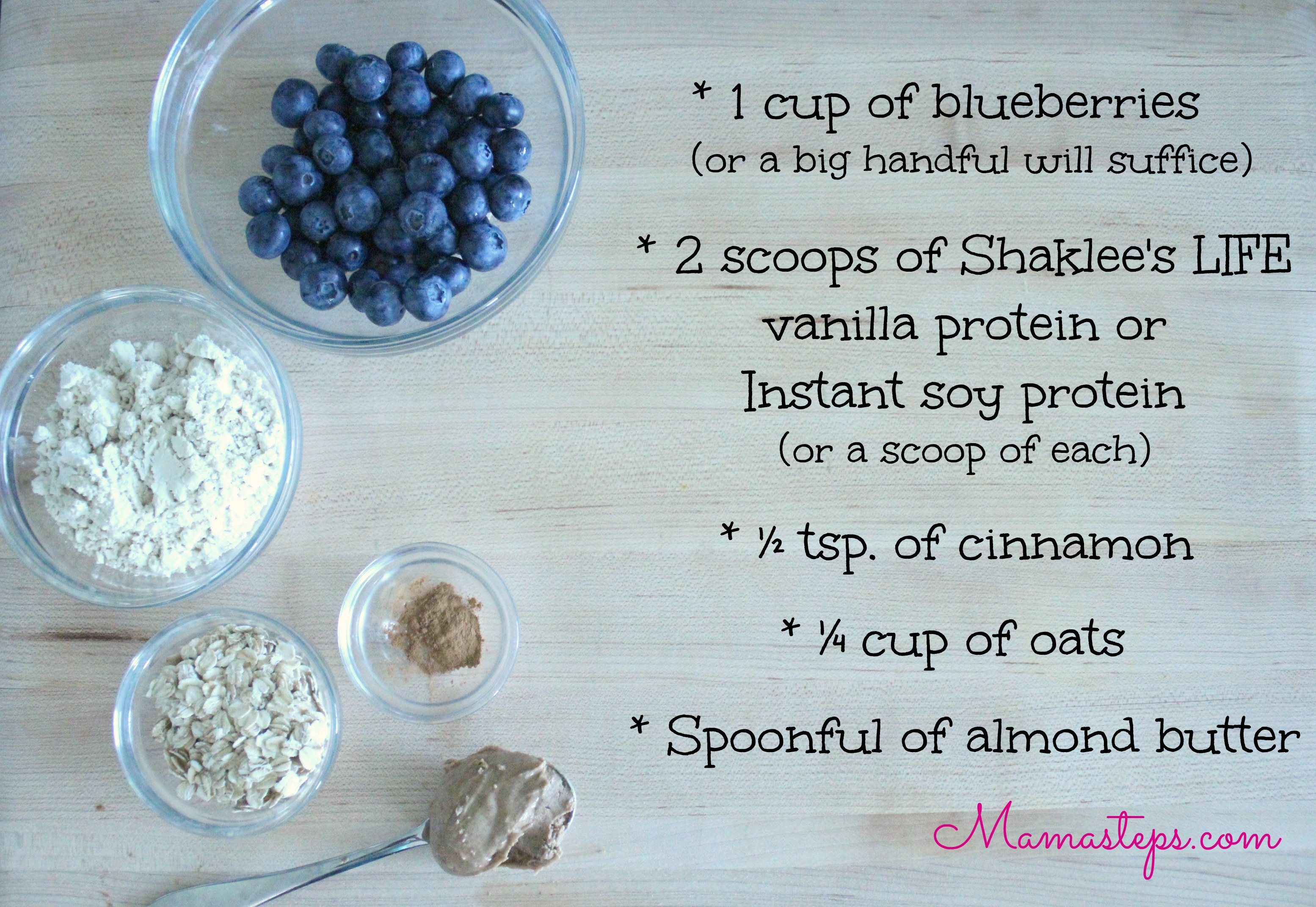 Blueberry Muffin Smoothie Ingredients