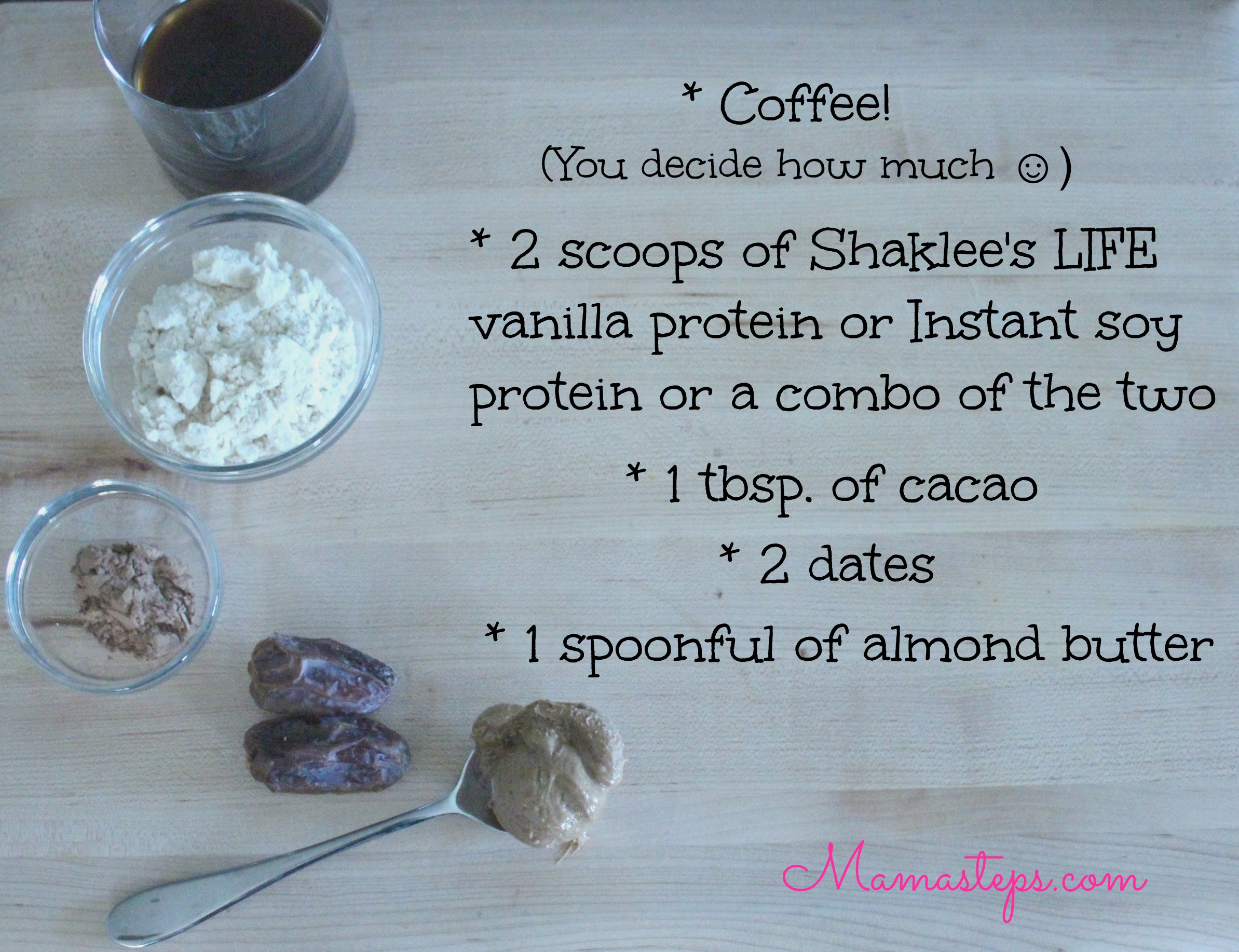 Mocha Almond Smoothie Ingredients