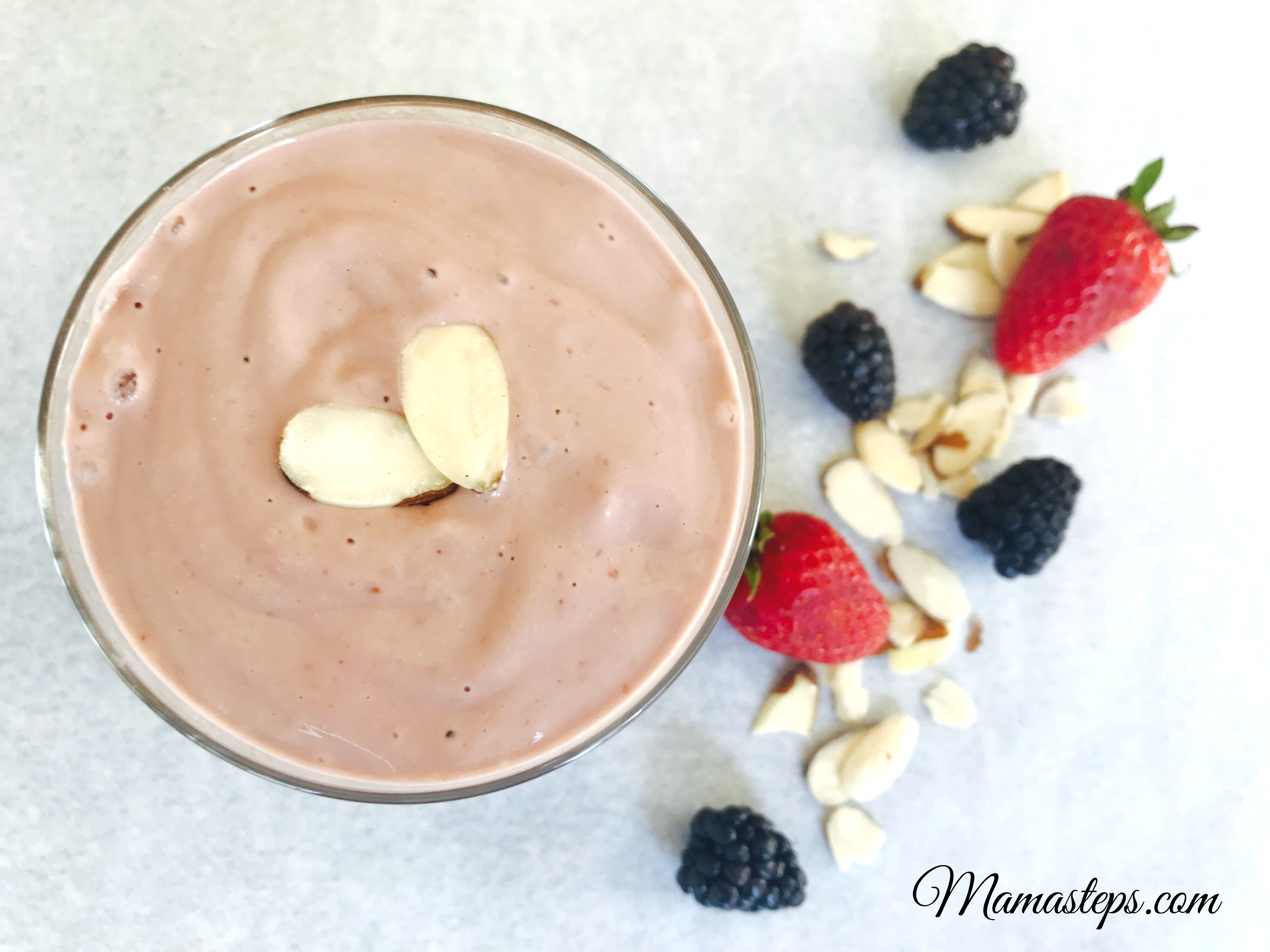PB&J vegan paleo smoothie
